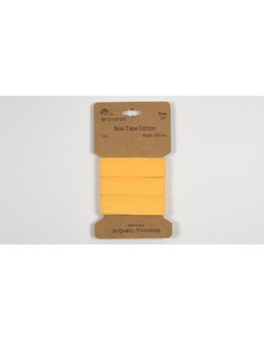 biais coton jaune