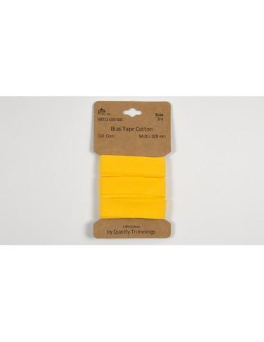 biais coton jaune foncé