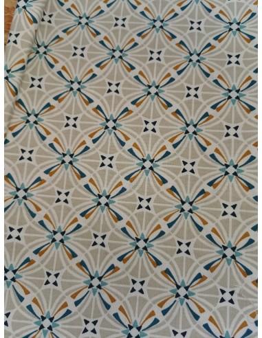 Coton CAPUCINE GREGE CLAIR/PAON